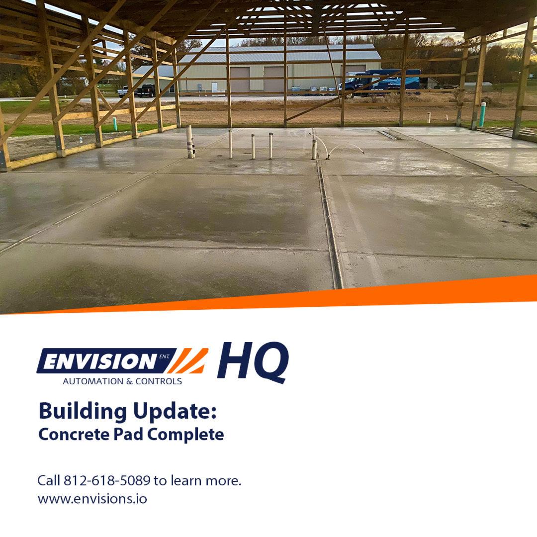 Building Update: Concrete Pad Complete
